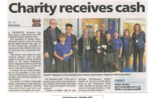 Cots' Journal - 'Charity Receives Cash' - 23.5.2019