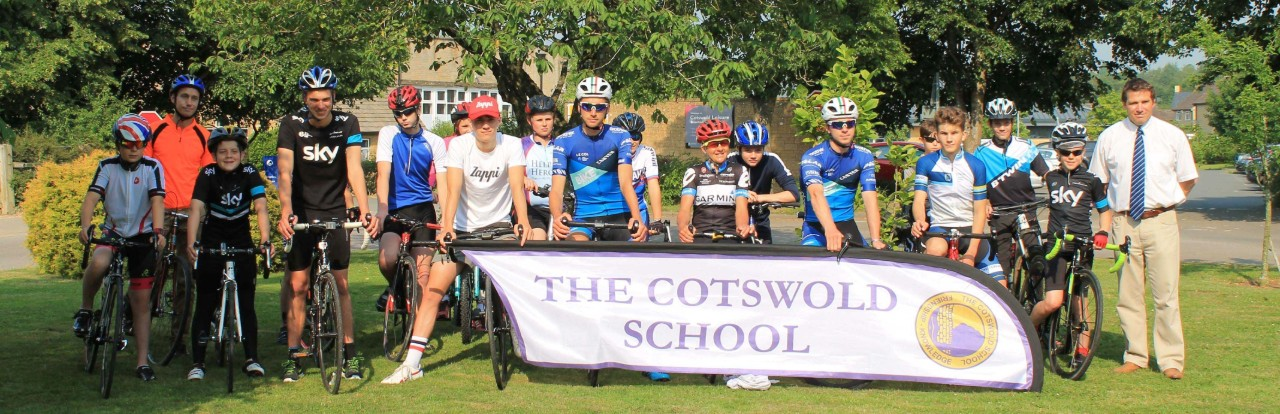 Sharon Laws with children at The Cotswold School crop